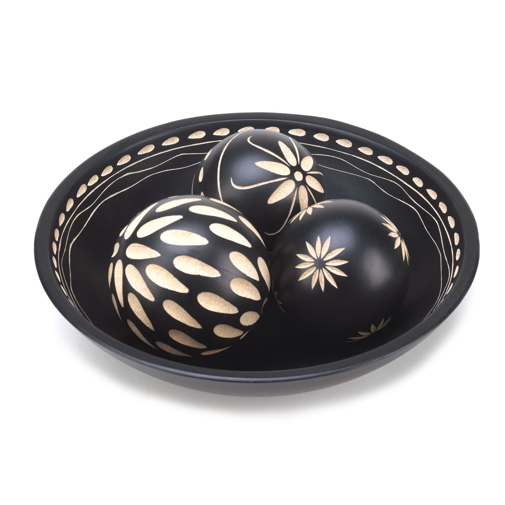 EBONY DECORATIVE BALL SET