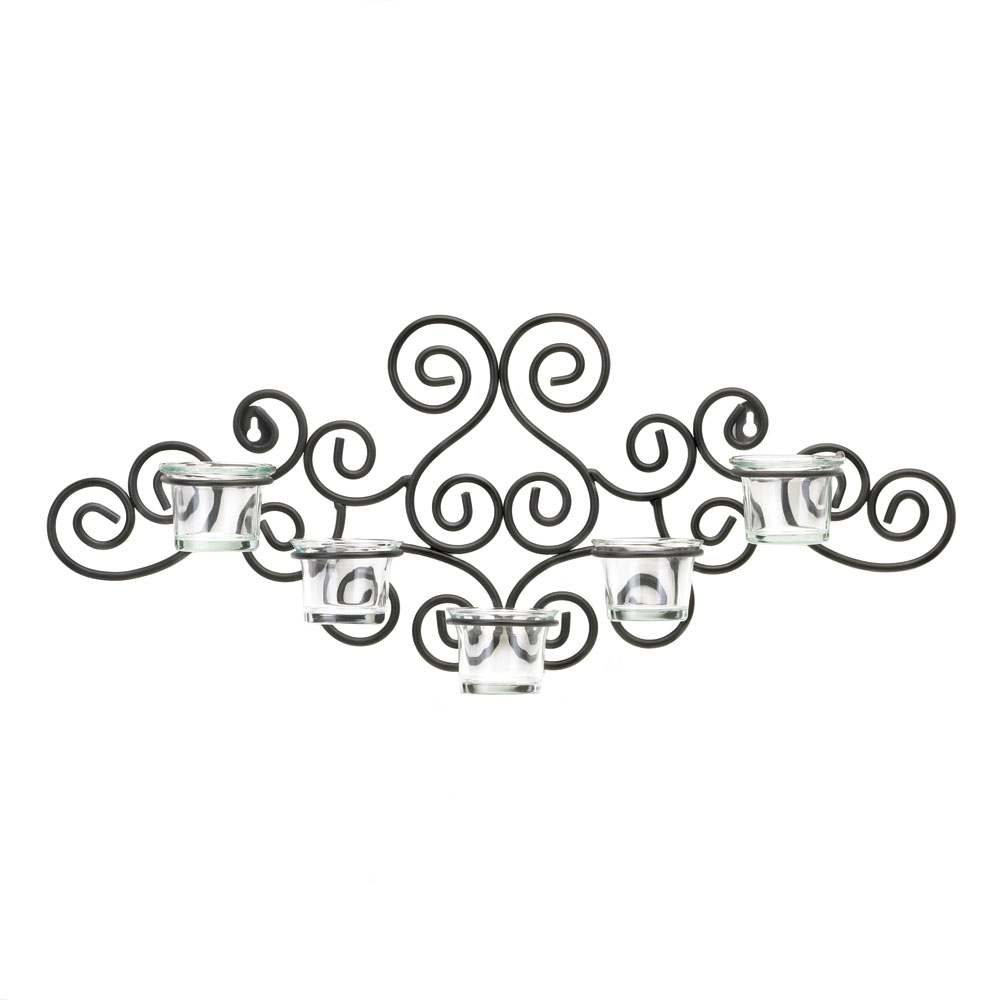 SCROLLWORK CANDLE SCONCE