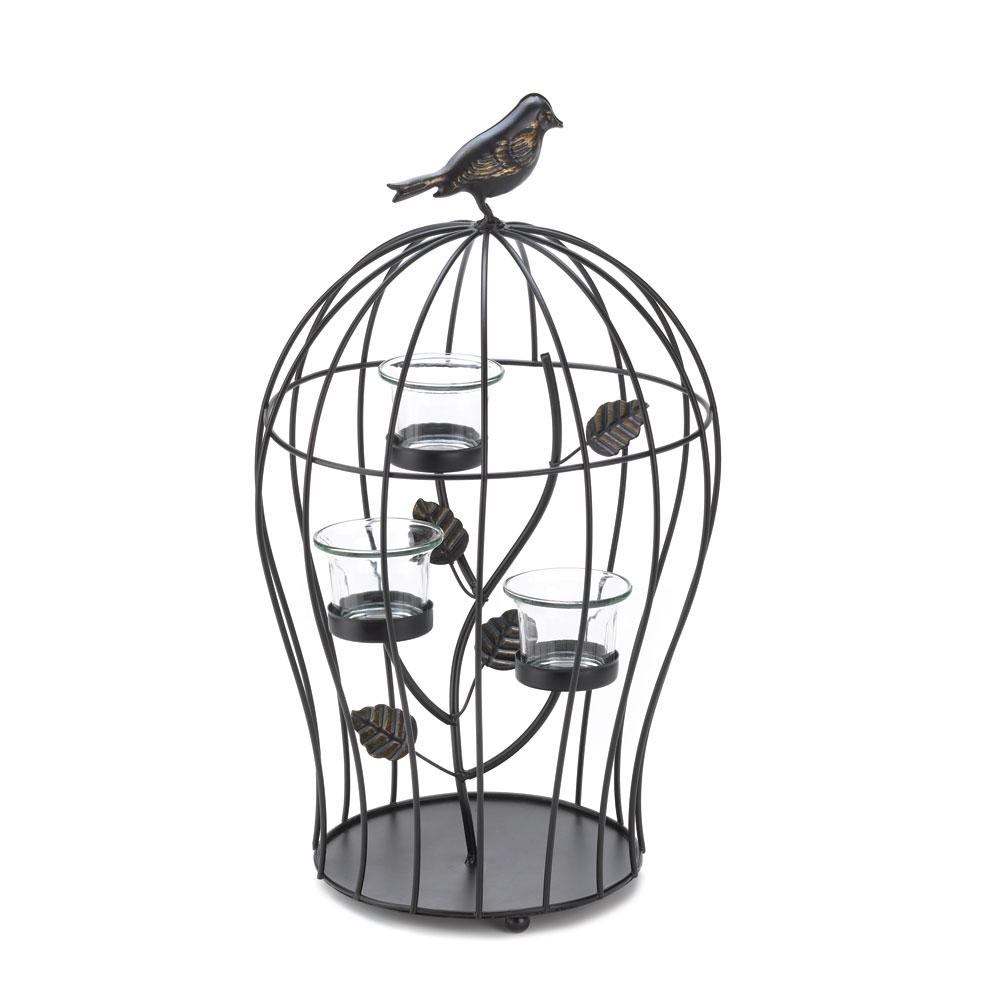 BIRDCAGE TRIPLE CANDLEHOLDER