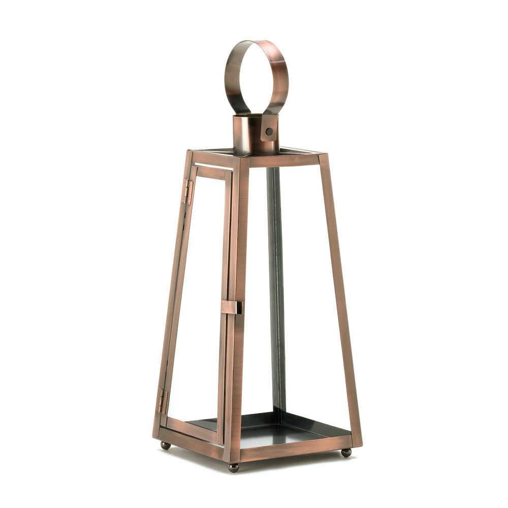 CONTEMPO COPPER CANDLE LANTERN