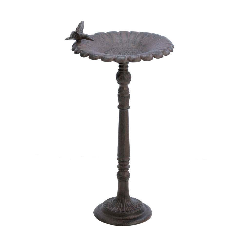CAST IRON HUMMINGBIRD BATH
