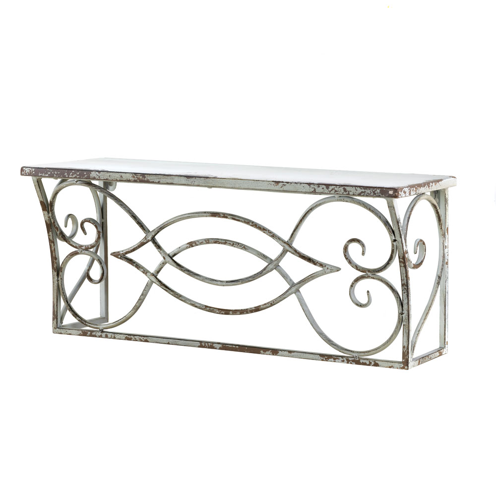 LARGE SCROLLWORK WALL SHELF