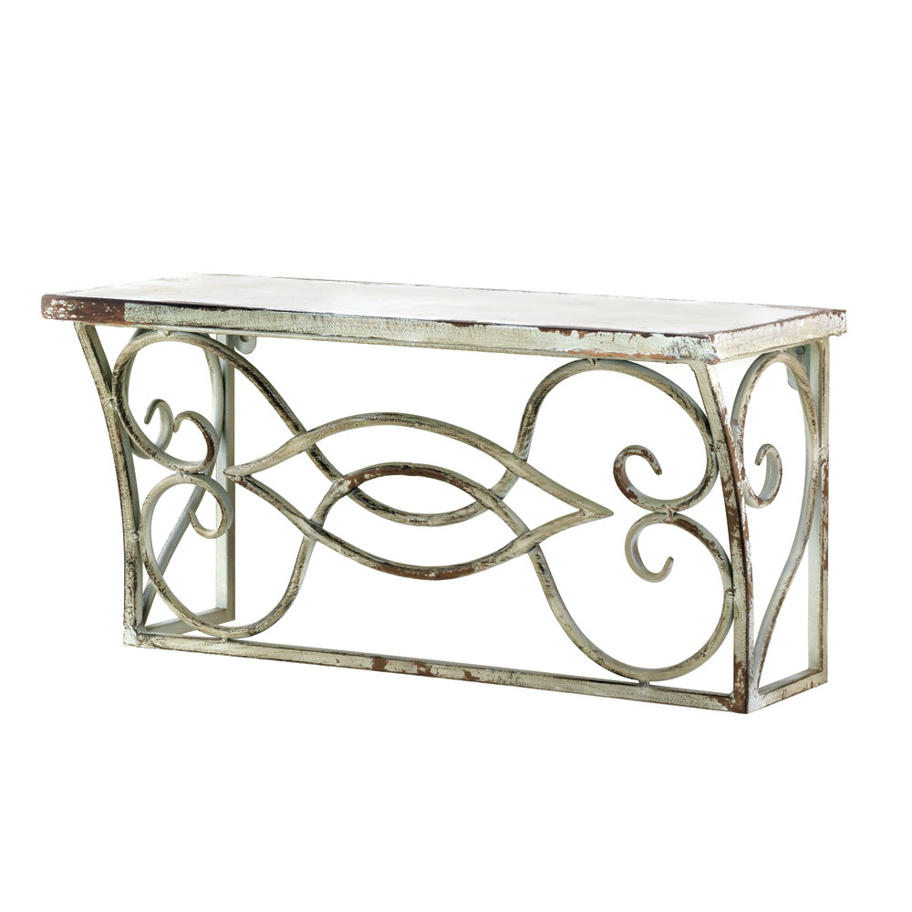 SMALL SCROLLWORK WALL SHELF