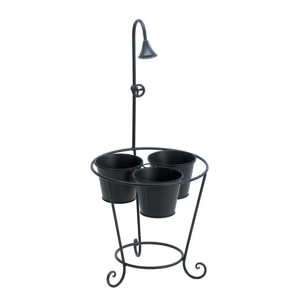 PLANT TRIO STAND WITH WATER FAUCET