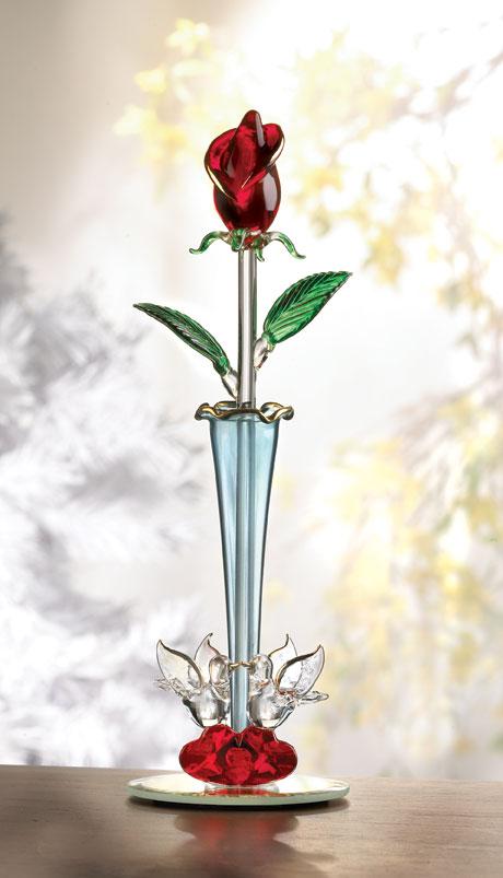 Spun Glass Rosebud Vase Just For Her Stylish Home And Garden Decor