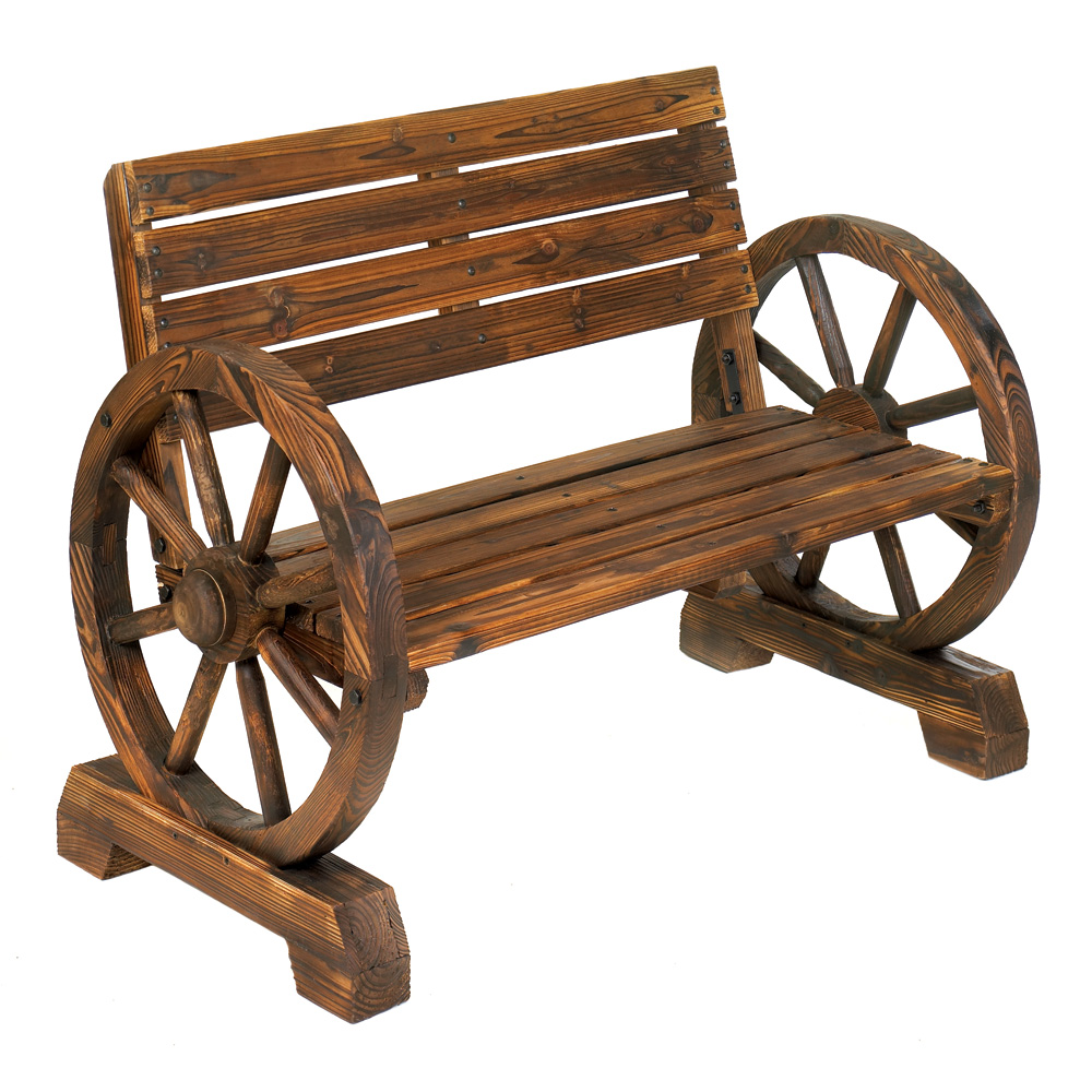 WAGON WHEEL BENCH