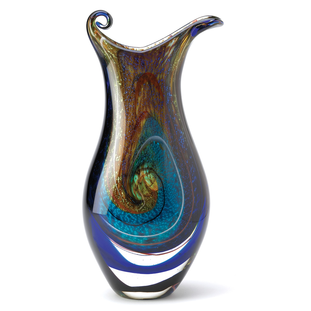GALAXY ART GLASS VASE