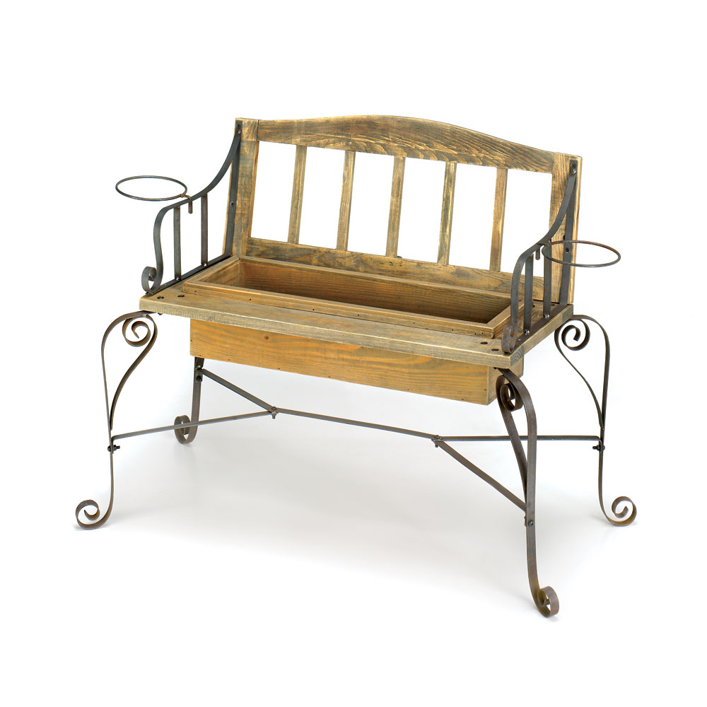 IRONWOOD BENCH PLANTER